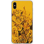 GCN-FR03-E-TL [GLASS PRINT iPhone XS Max FLORAL Yellow Rose TL]