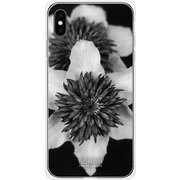 GCN-FR04-E-TL [GLASS PRINT iPhone XS Max FLORAL Mono FLORAL TL]