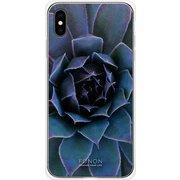 GCN-FR05-E-TL [GLASS PRINT iPhone XS Max FLORAL Blue Bloom TL]