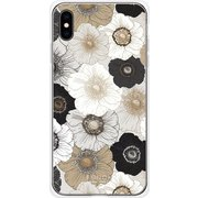 GCN-FP01-E-TL [GLASS PRINT iPhone XS Max FLORAL PATTERN Anemone TL]