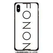 GCN-TS01-E-BK [GLASS PRINT iPhone XS Max TYPO SERIES FONON White BK]