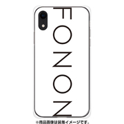 GCN-TS01-E-TL [GLASS PRINT iPhone XS Max TYPO SERIES FONON White TL]