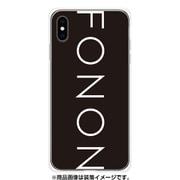 GCN-TS02-E-TL [GLASS PRINT iPhone XS Max TYPO SERIES FONON Black TL]