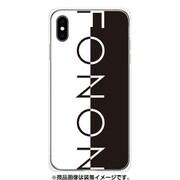 GCN-TS17-E-TL [GLASS PRINT iPhone XS Max TYPO SERIES FONON Divide Black TL]