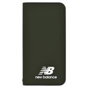 md-74261-2 [iPhoneXS/X New Balance シンプル手帳ケース/カーキ]