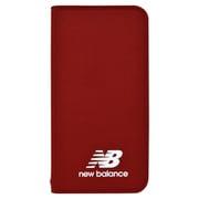 md-74261-3 [iPhoneXS/X New Balance シンプル手帳ケース/レッド]
