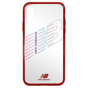 md-74262-3 [iPhoneXR New Balance TPU+PC クリアケース/レッド]