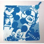 38-1041060B [Disney 総柄+2 34cm×34cm ブルー ウォッシュタオル]