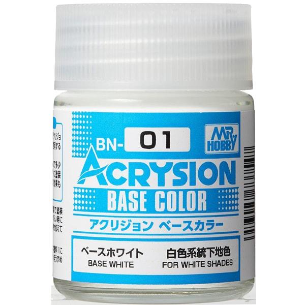 BN01 [アクリジョン ベースカラーシリーズ No.1 ベースホワイト 18ml]