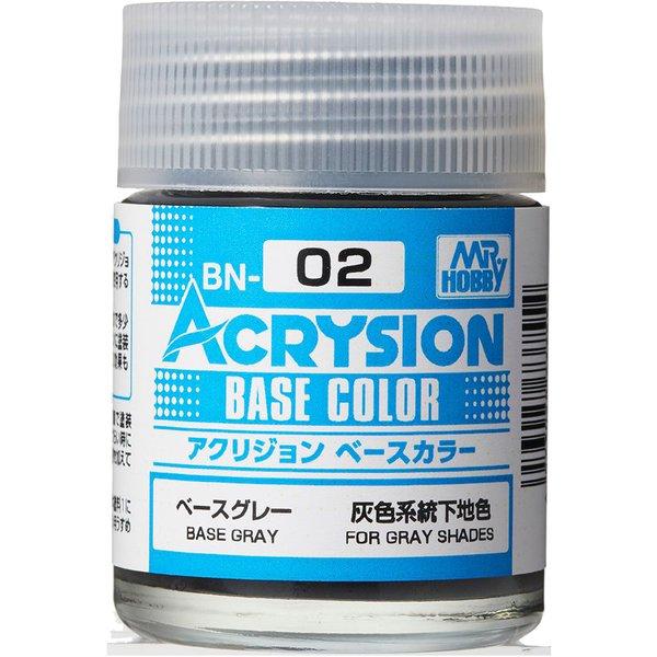 BN02 [アクリジョン ベースカラーシリーズ No.2 ベースグレー 18ml]