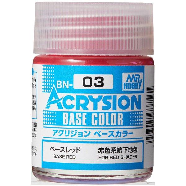 BN03 [アクリジョン ベースカラーシリーズ No.3 ベースレッド 18ml]