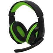 PS4/PC用 マルチ ゲーミングヘッドセット ブラックグリーン