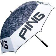 PING 19SS 34538-01 UM-P191 アンブレラ [晴雨兼用] ホワイト/ブラック