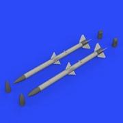 EDU632132 AIM-120A/B AMRAAM 空対空ミサイル (2個入り) [1/32 ブラッシン:レジンパーツ]