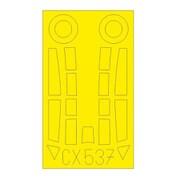 EDUCX537 Me262B-1 塗装マスクシール (エアフィックス用) [1/72 樹脂製塗装用マスキングシート]