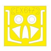 EDUEX647 ホーカー ハンター F.6 塗装マスクシール (エアフィックス用) [1/48 樹脂製塗装用マスキングシート]