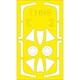 EDUEX648 ホーカー ハンター F.6 「Tフェース」両面塗装マスクシール (エアフィックス用) [1/48 樹脂製塗装用マスキングシート]