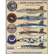 FAD48-070 アメリカ海軍 レガシー バグ バンディット(F/A-18A/B/Cホーネット)デカール [1/48 エアクラフト用デカール]
