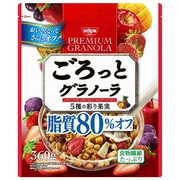 ごろっとグラノーラ 5種の彩り果実 脂質80%オフ 360g