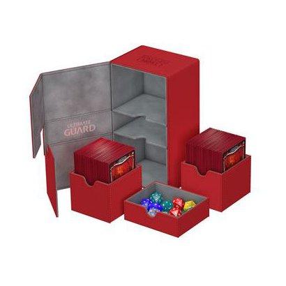 UGD010382 Twin Flip'n'Tray Deck Case 200+ Standard Size XenoSkin Red [トレーディングカード用品]