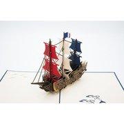 PAV707 [グリーティングカード 帆船]
