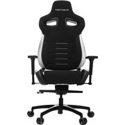 VG-PL4500-WT [Vertagear Racing Series P-Line PL4500 Coffee Fiber with Silver Gaming Chair Black&White]