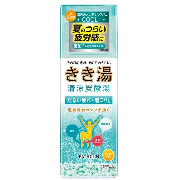 きき湯 清涼炭酸湯 シトラスの香り 360g