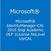 Identity Manager-CAL 2016 Sngl Academic OLP 1License NoLevel UsrCAL [ライセンスソフト]