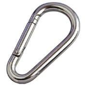 NK6A [水本 ステンレス ナス型カラビナ(環なし) 線径6mm長さ63mm]