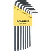 BLX8 [ボンダス ボールポイント・L-レンチ ロング インチ セット8本組(0.050-5/32)]