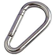 NK3A [水本 ステンレス ナス型カラビナ(環なし) 線径3mm長さ38mm]