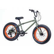 BRONX 20DD Army Green/Orange rim [ファットバイク 20×4.0 外装7段変速]