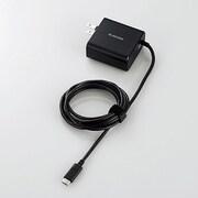MPA-ACCQ03BK [スマートフォン・タブレット用AC充電器(タイプC)/Type-Cケーブル一体型/QuickCharge3.0対応/1.5m/ブラック]