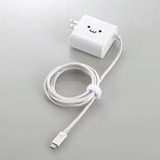 MPA-ACCQ03WF [スマートフォン・タブレット用AC充電器(タイプC)/Type-Cケーブル一体型/QuickCharge3.0対応/1.5m/ホワイトフェイス]