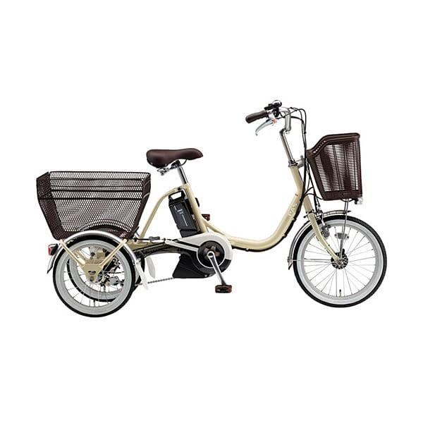 PA16W [電動アシスト自転車 PAS(パス)ワゴン 2019年モデル 前18/後16型(3輪タイプ) 15.4Ah 内装3段変速 アイボリー]