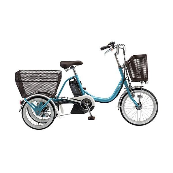 PA16W [電動アシスト自転車 PAS(パス)ワゴン 2019年モデル 前18/後16型(3輪タイプ) 15.4Ah 内装3段変速 エスニックブルー]