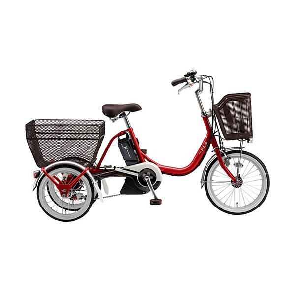 PA16W [電動アシスト自転車 PAS(パス)ワゴン 2019年モデル 前18/後16型(3輪タイプ) 15.4Ah 内装3段変速 レッド]