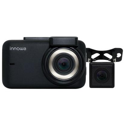 innowa Journey Plus [ドライブレコーダー 前後 デュアルカメラ フルHD Wi-Fi GPS 160度広角 常時/衝撃録画 オート駐車モード 2年保証 32GBSDカード付]