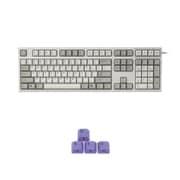 R2A-USV-IV-WASD [REALFORCE R2 A フルキーボード 英語108キー配列 USB アイボリー 昇華印字 変荷重 APC機能付 W.A.S.D(パープル)キーキャップセットモデル]