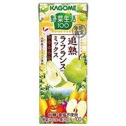 カゴメ 野菜生活100 追熟ラ・フランス 195ml×24本 [野菜果汁飲料]