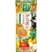 カゴメ 野菜生活100 デコポンミックス 195ml×24本 [野菜果汁飲料]
