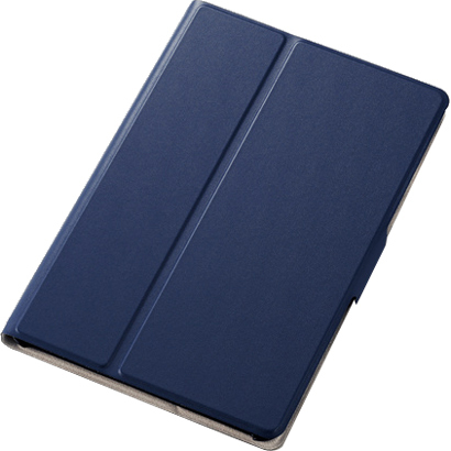 TB-A19SWVFUNV [iPad mini 2019/iPad mini 4 フラップカバー ソフトレザー 2アングル 薄型 ネイビー]