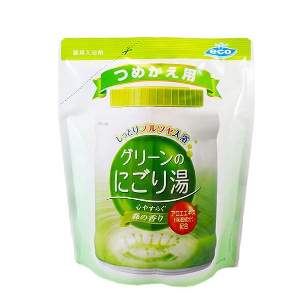 薬用入浴剤 グリーンのにごり湯 つめかえ用 森林の香り 540g