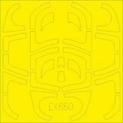 EDUEX650 Yak-130 Tフェース 両面塗装マスクシール ズべズダ用 [1/48 樹脂製塗装用マスキングシール]