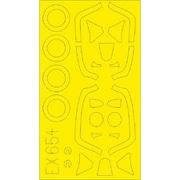 EDUEX654 スピットファイア FR Mk.XIV Tフェース 両面塗装マスクシール エアフィックス用 [1/48 樹脂製塗装用マスキングシール]