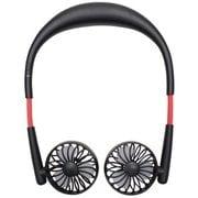 HE-NTF001-B [USB充電式 首掛け扇風機 Neck Twin Fan(ネックツインファン) ブラック]