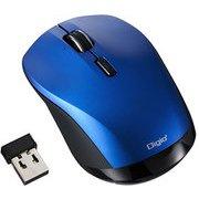 MUS-RKT162BL [BLUE LED 無線マウス 小型静音高速スクロール 3ボタン ブルー]