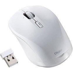 MUS-RKT162W [BLUE LED 無線マウス 小型静音高速スクロール 3ボタン ホワイト]