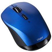 MUS-BKT163BL [BLUE LED Bluetoothマウス 小型静音高速スクロール 3ボタン ブルー]