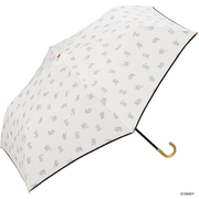 DS045-019  オフ ホワイト [折りたたみ傘  フィガロ/キャンディリボンmini 手開き 6本骨 婦人 50cm]